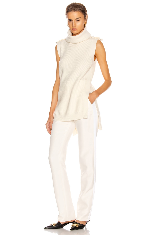 Image 5 of Stella McCartney Military Sleeveless Top in Winter White