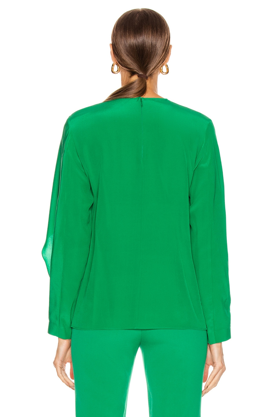 Image 4 of Stella McCartney Silk Crepe Top in Sparkle Green