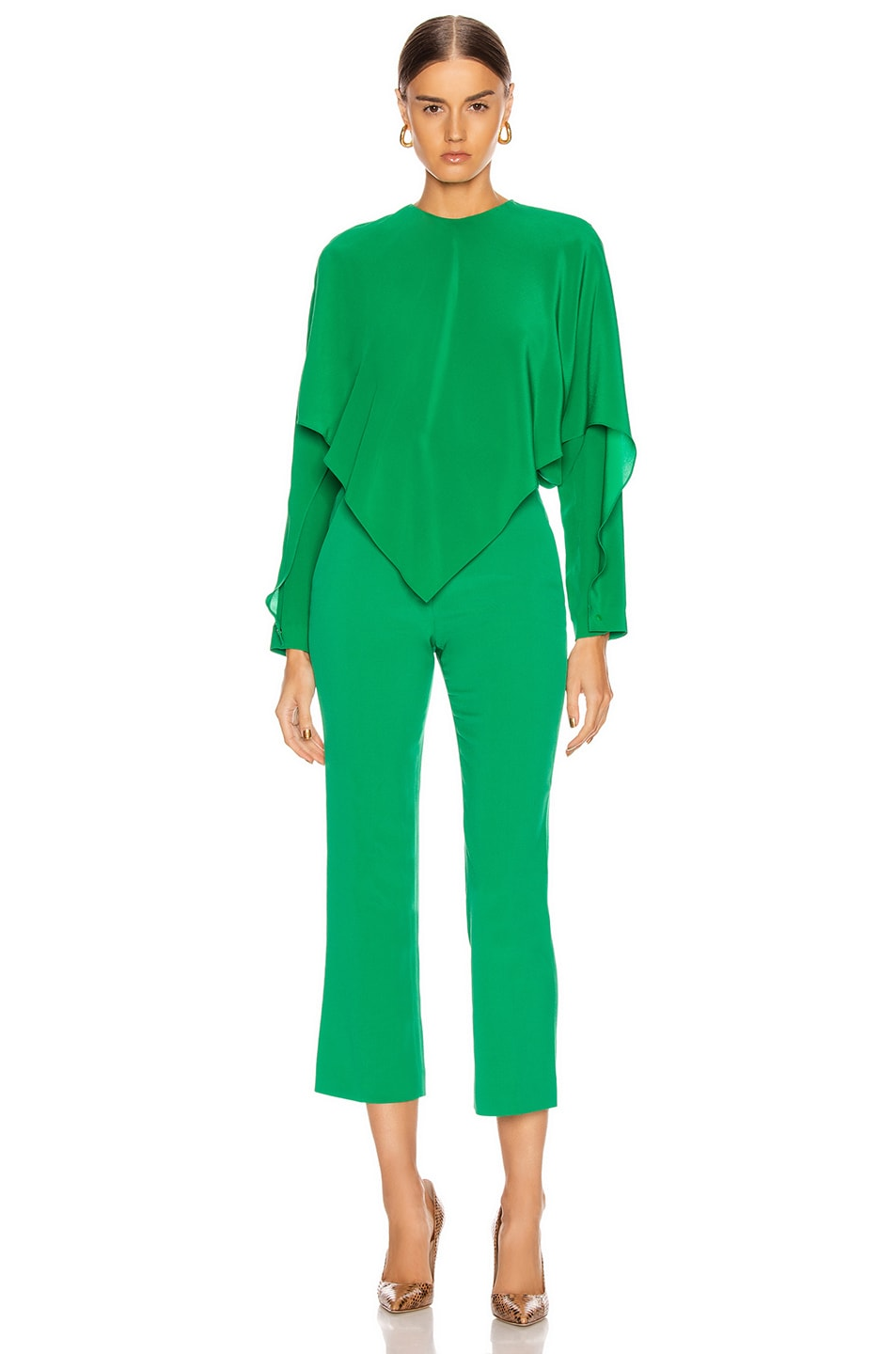 Image 5 of Stella McCartney Silk Crepe Top in Sparkle Green