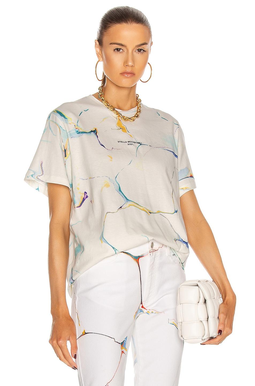 Image 1 of Stella McCartney Marbling T Shirt in Pure White