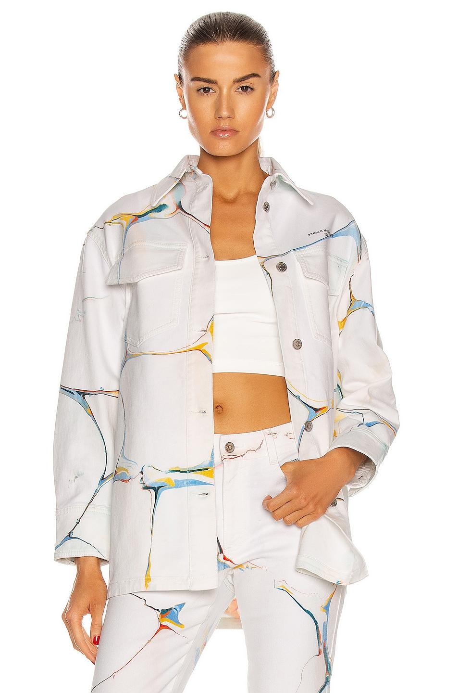 Image 1 of Stella McCartney Shirt Jacket in White Marble Wash