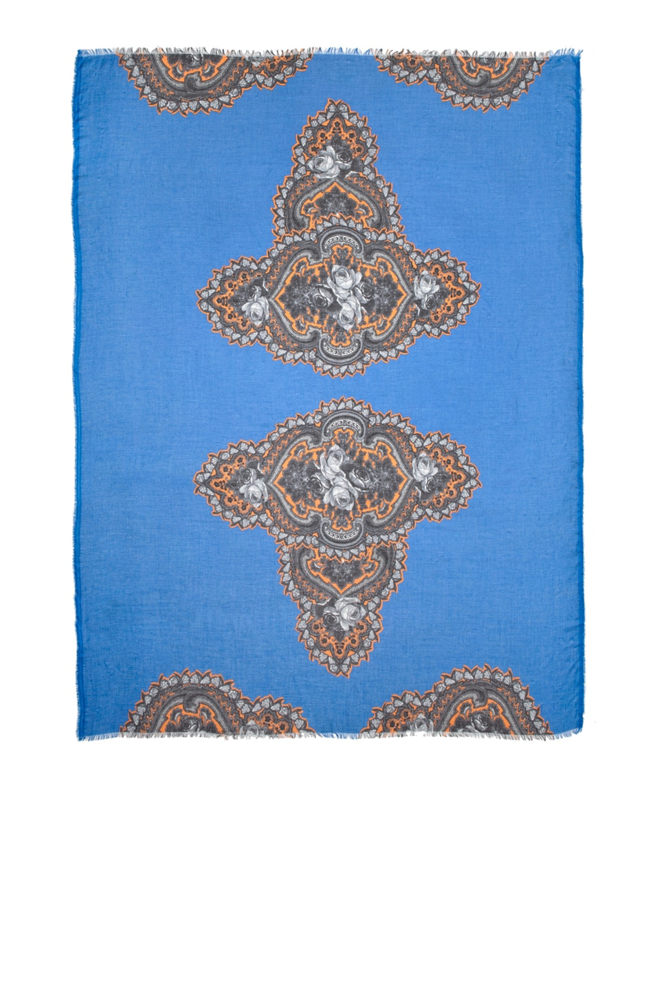 Image 1 of Stella McCartneyFloral Print Scarf in Ultra Blue