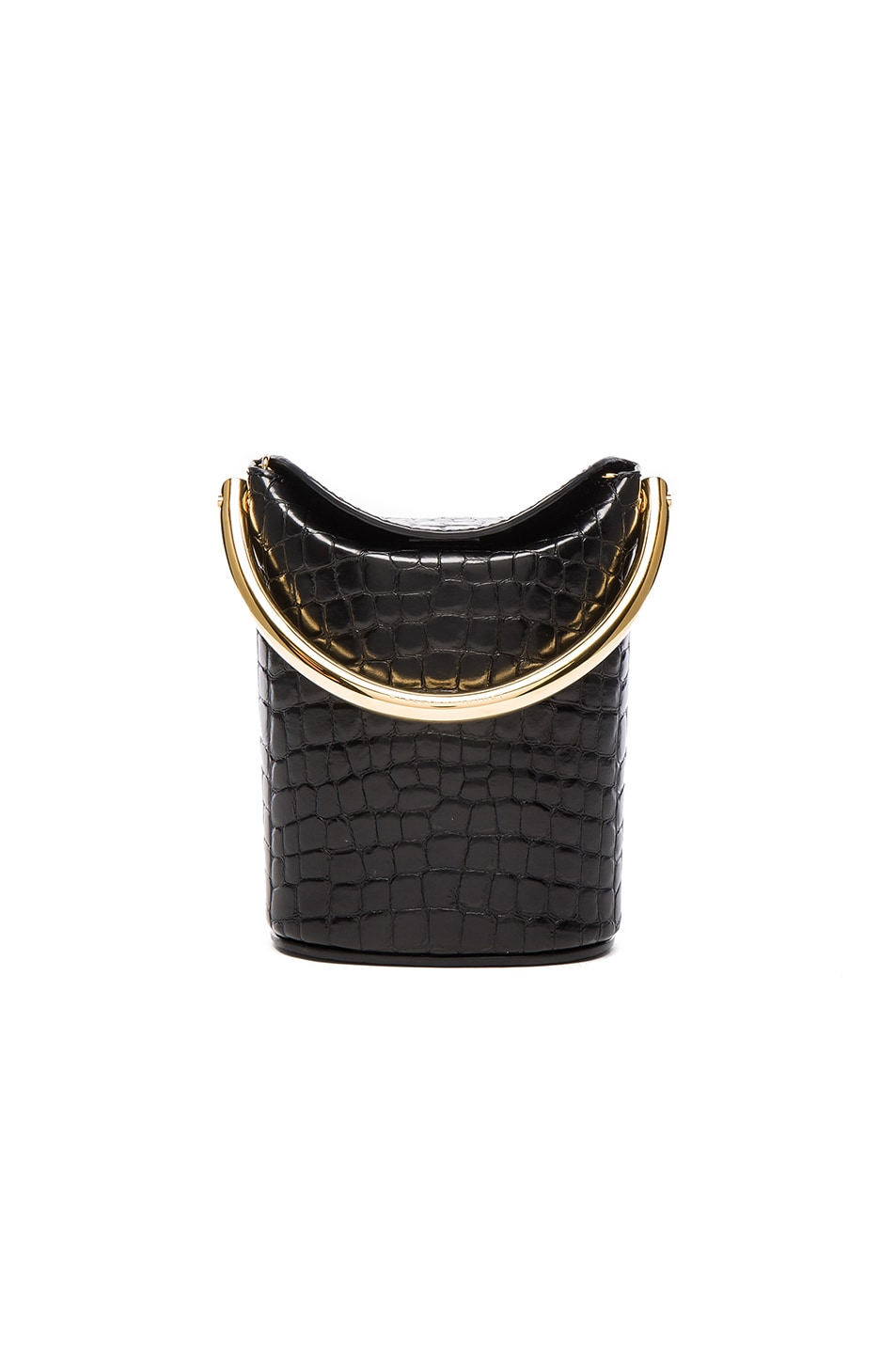 Image 1 of Stella McCartneyAlter Croc Bucket Bag in Black