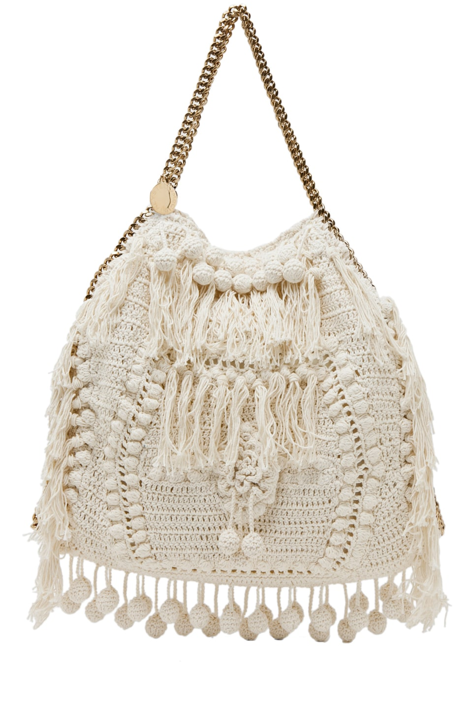 Image 1 of Stella McCartneyCrochet Big Tote in White