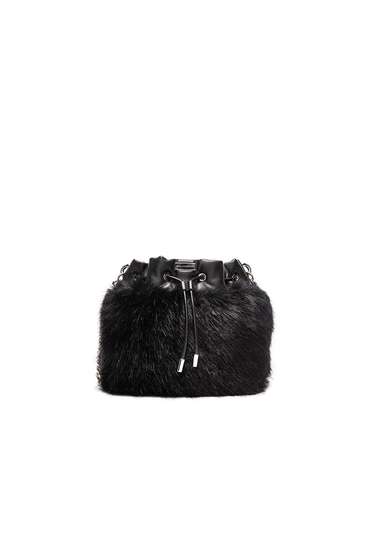 Image 1 of Stella McCartney Fur Bucket in Black