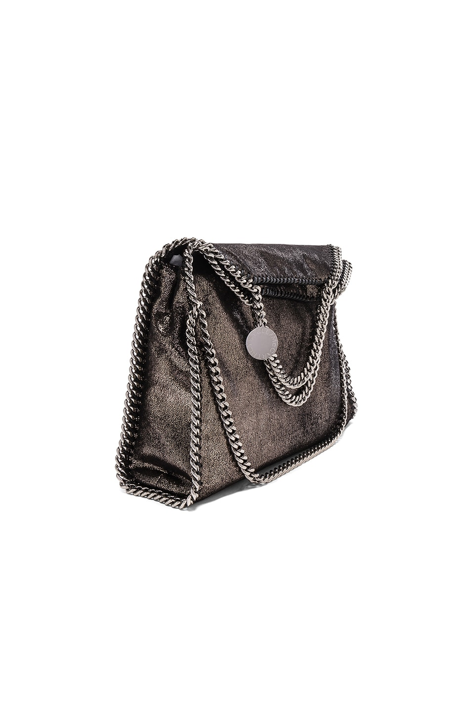 Image 1 of Stella McCartneyFalabella Small Fold-Over Tote in Black