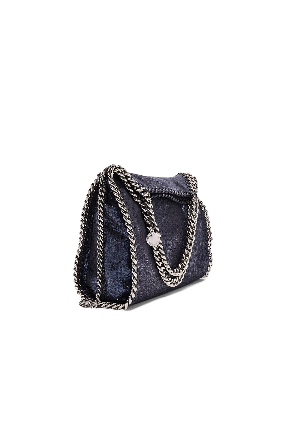 Image 1 of Stella McCartneyFalabella Mini Fold-Over Tote in Navy