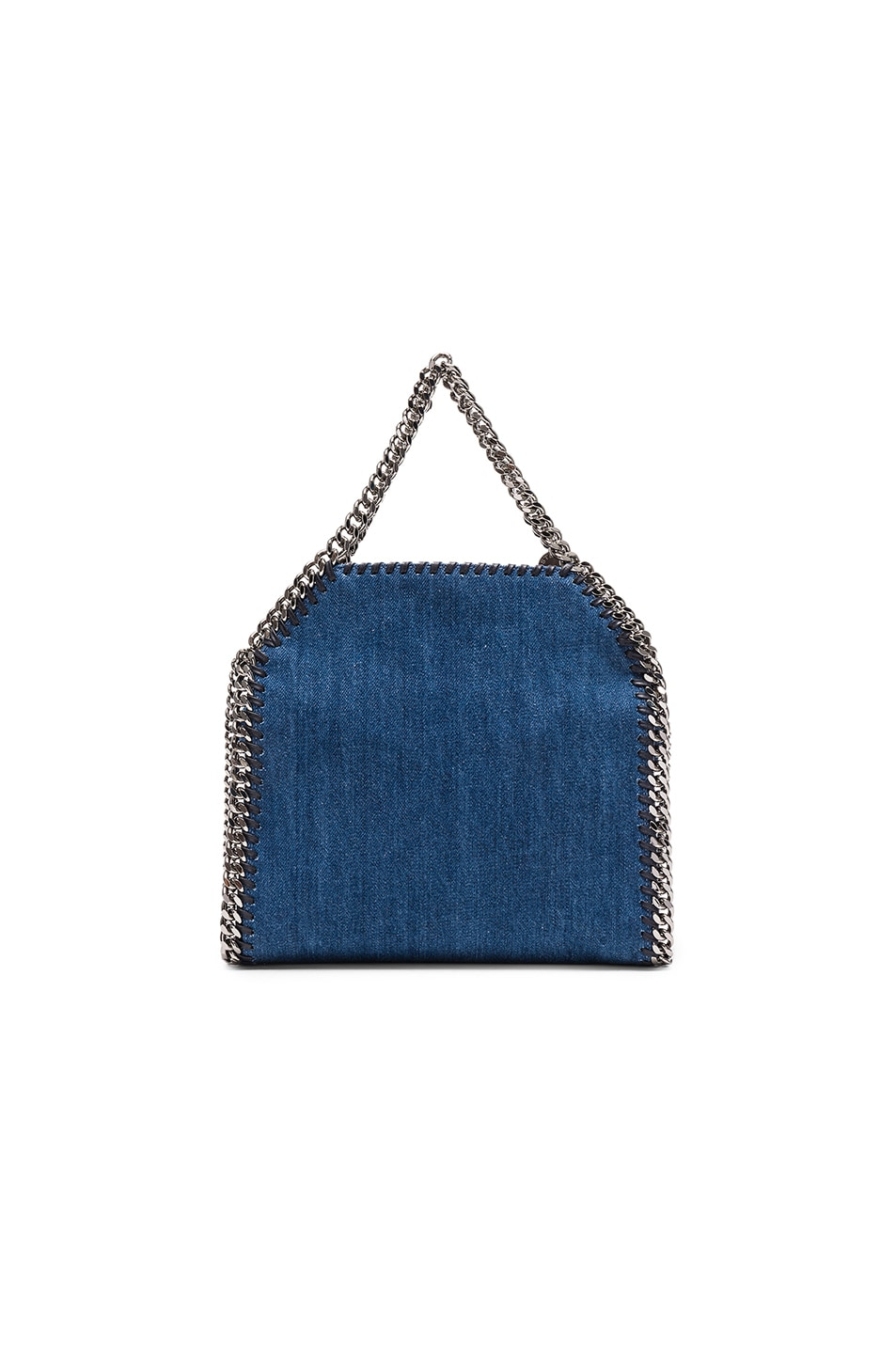 Image 3 of Stella McCartney Falabella Mini Embroidered Tote in Cerulean