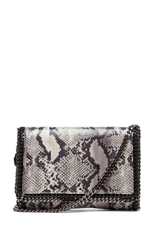 Image 1 of Stella McCartney Python VIP Shoulder Bag in Ivory