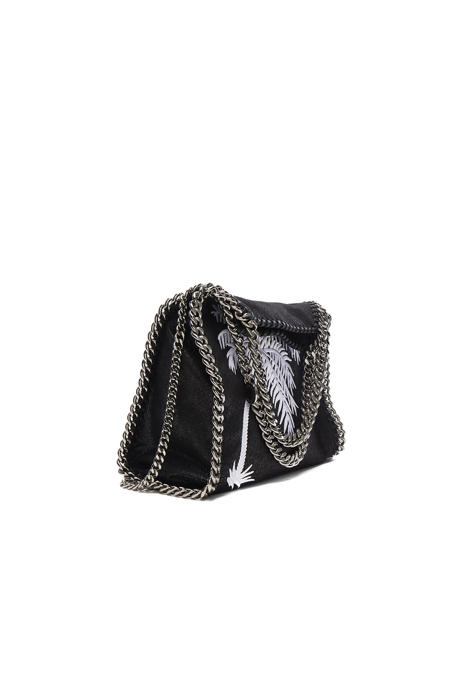 Image 1 of Stella McCartneyPalm Tree Embroidery Falabella Mini Bella in Black