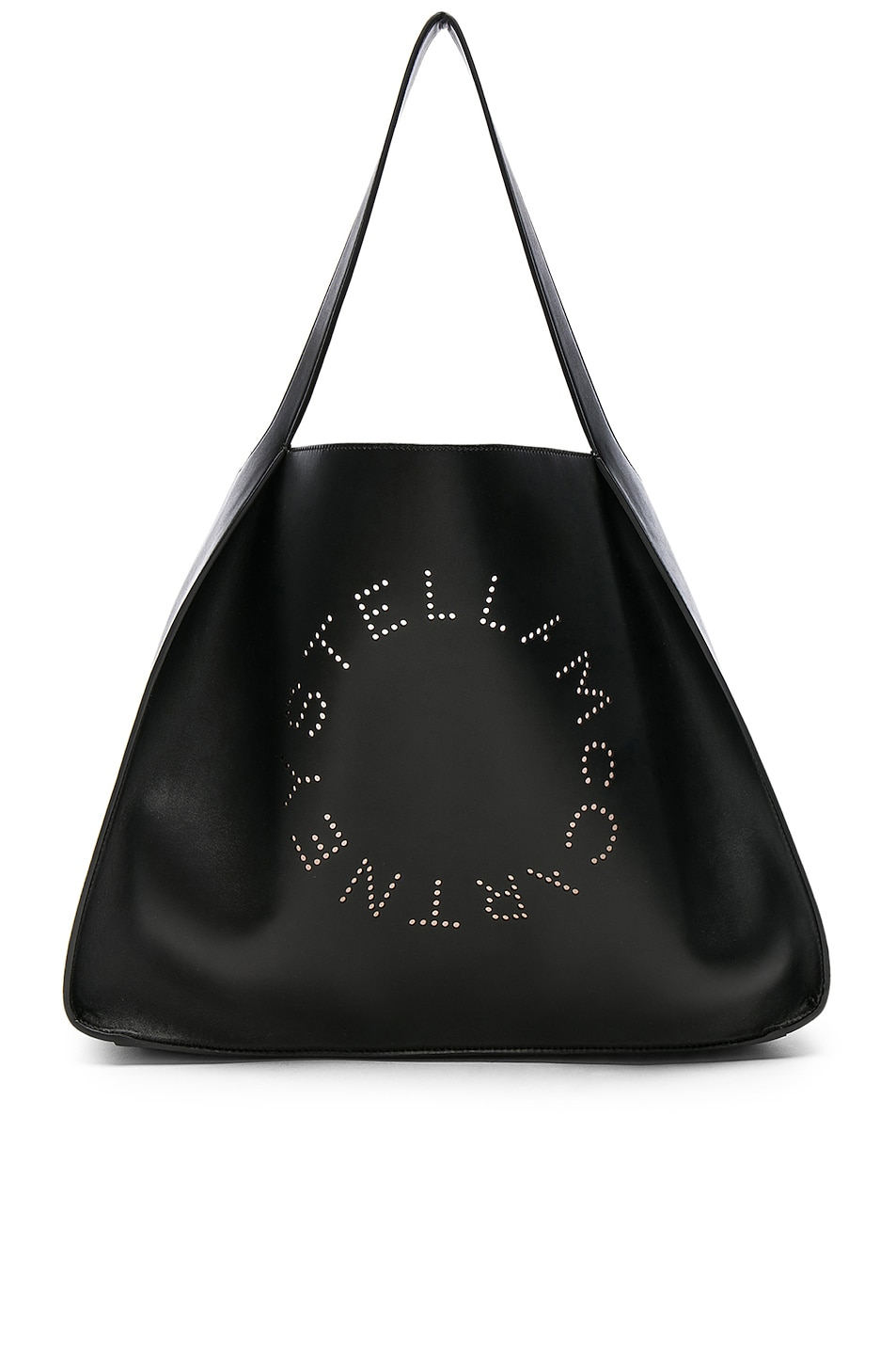 Image 1 of Stella McCartney Perforated Logo Tote in Black