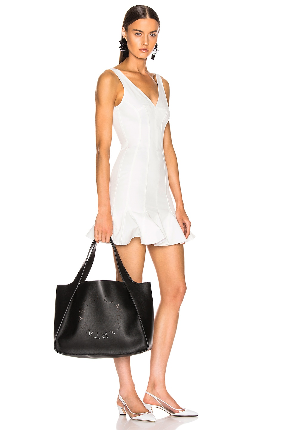 Image 2 of Stella McCartney Perforated Logo Tote in Black