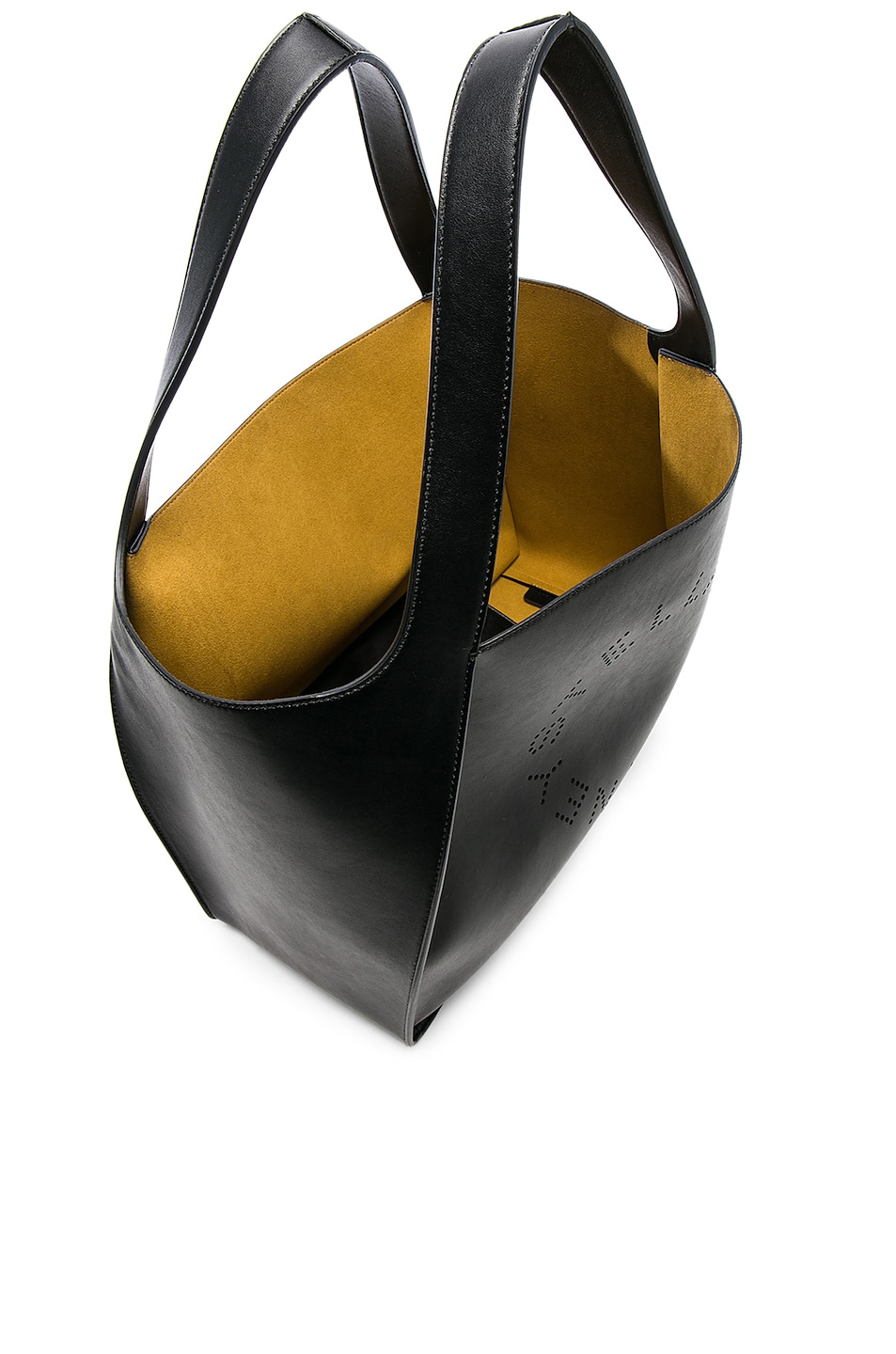 Image 5 of Stella McCartney Perforated Logo Tote in Black