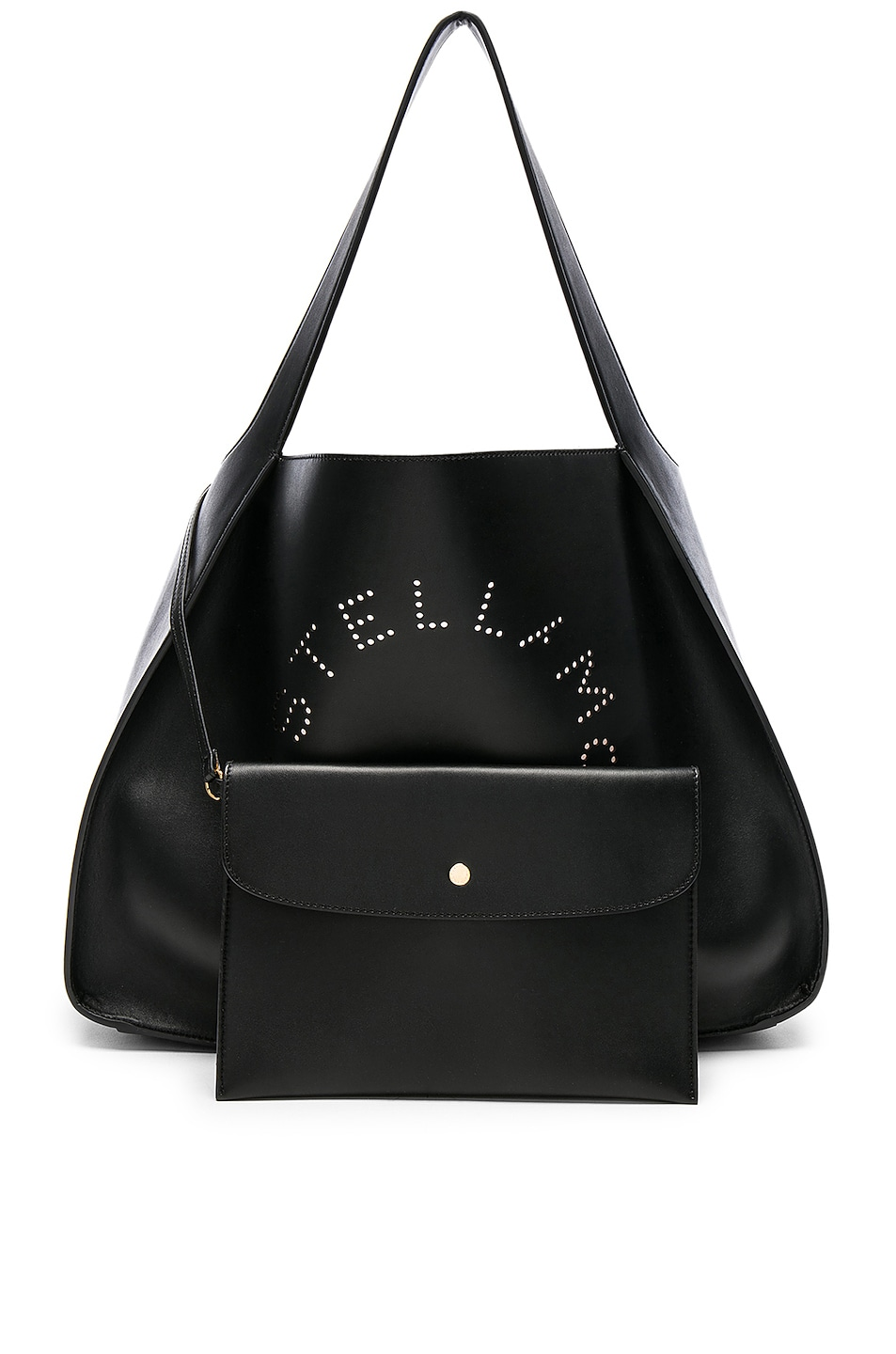 Image 6 of Stella McCartney Perforated Logo Tote in Black