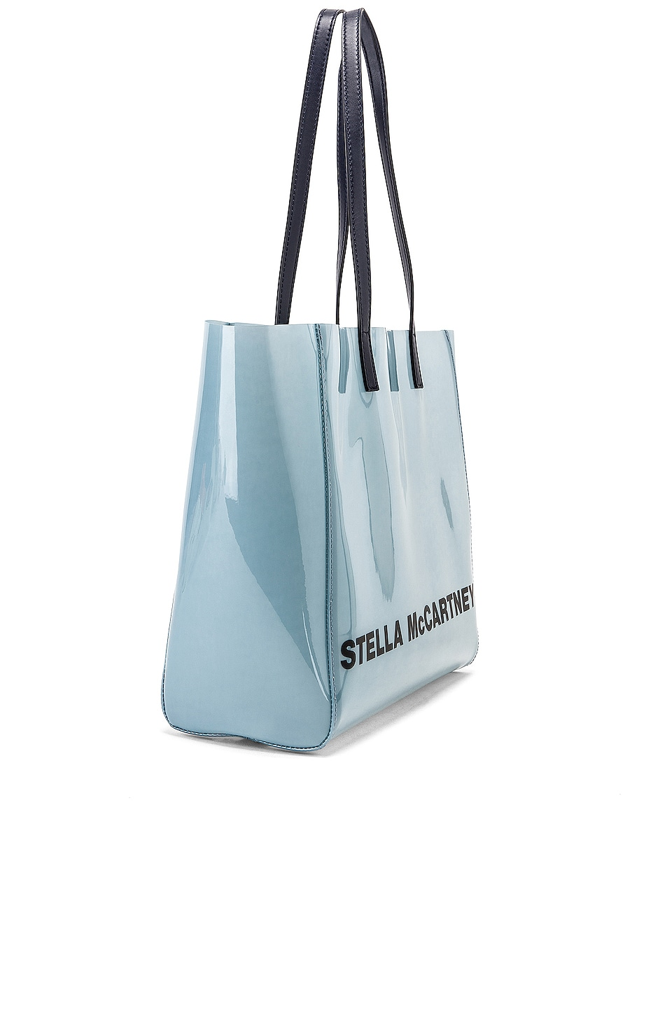 Image 4 of Stella McCartney Small Monogram Clear Tote in Pastel Blue