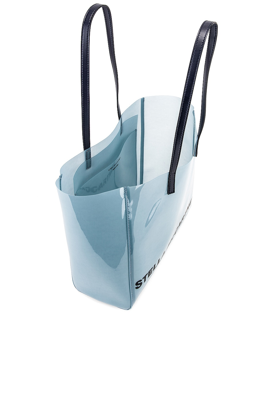 Image 5 of Stella McCartney Small Monogram Clear Tote in Pastel Blue