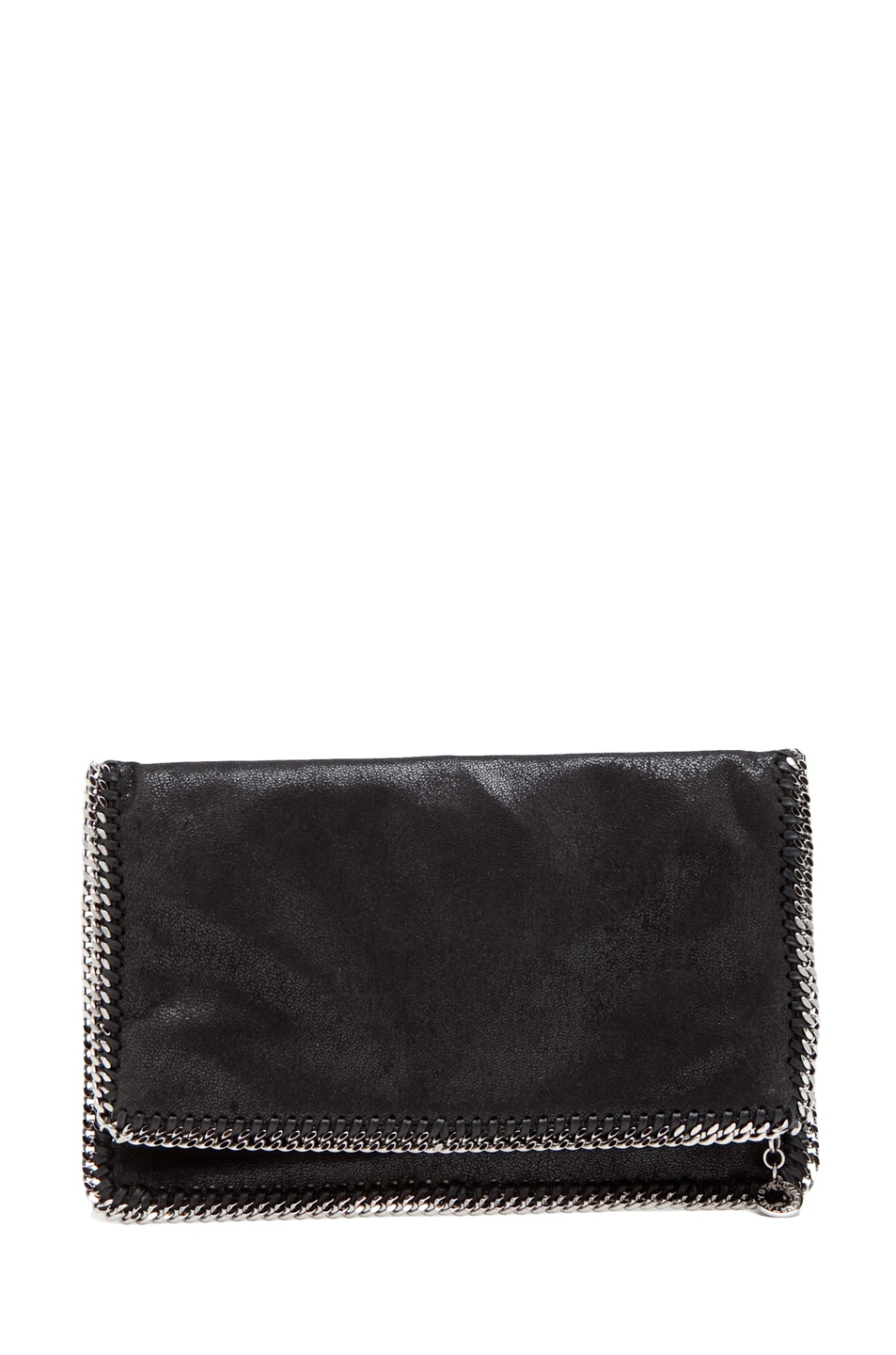 Image 1 of Stella McCartneyShaggy Deer Falabella Fold Over Clutch in Black