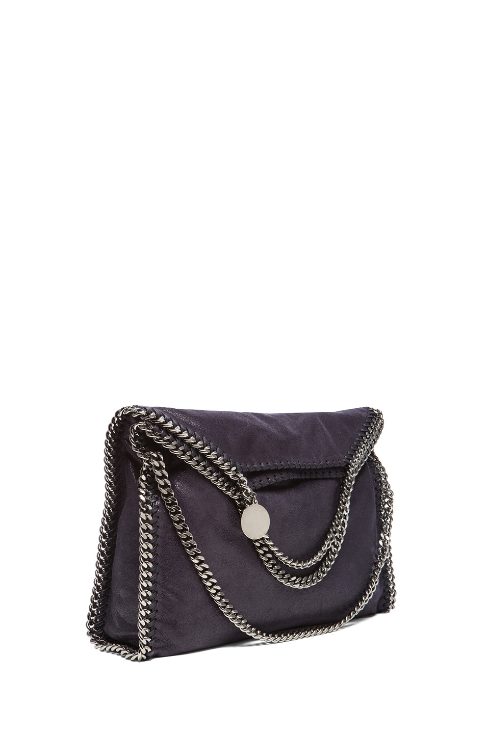 Image 1 of Stella McCartneySmall Falabella Fold Over Tote in Navy Blue