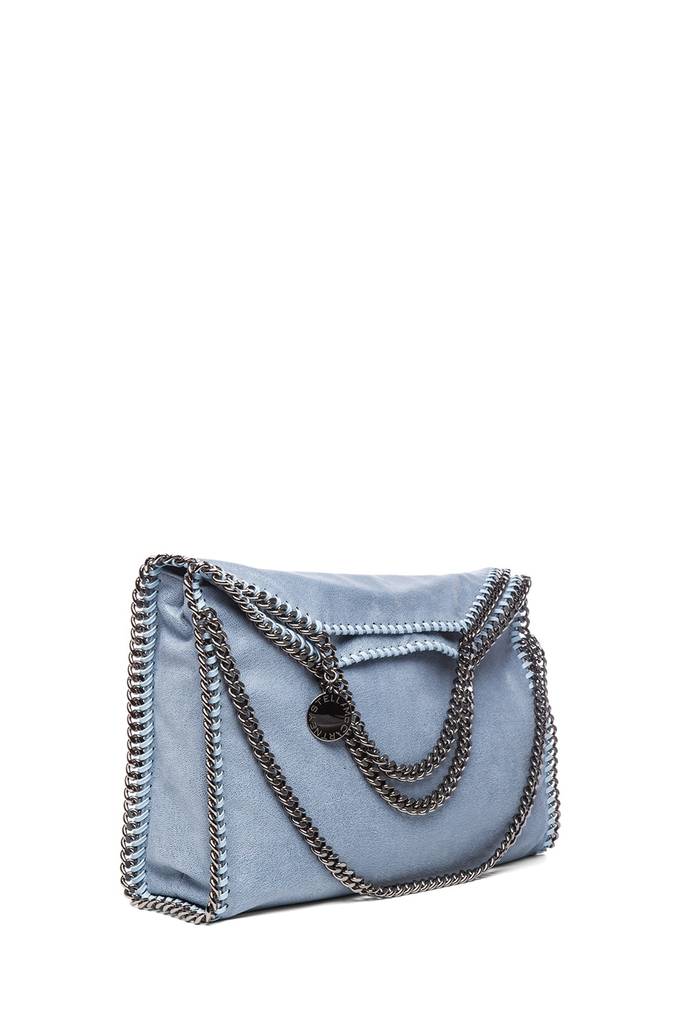 Image 1 of Stella McCartneySmall Falabella Fold Over Tote in Duck Blue