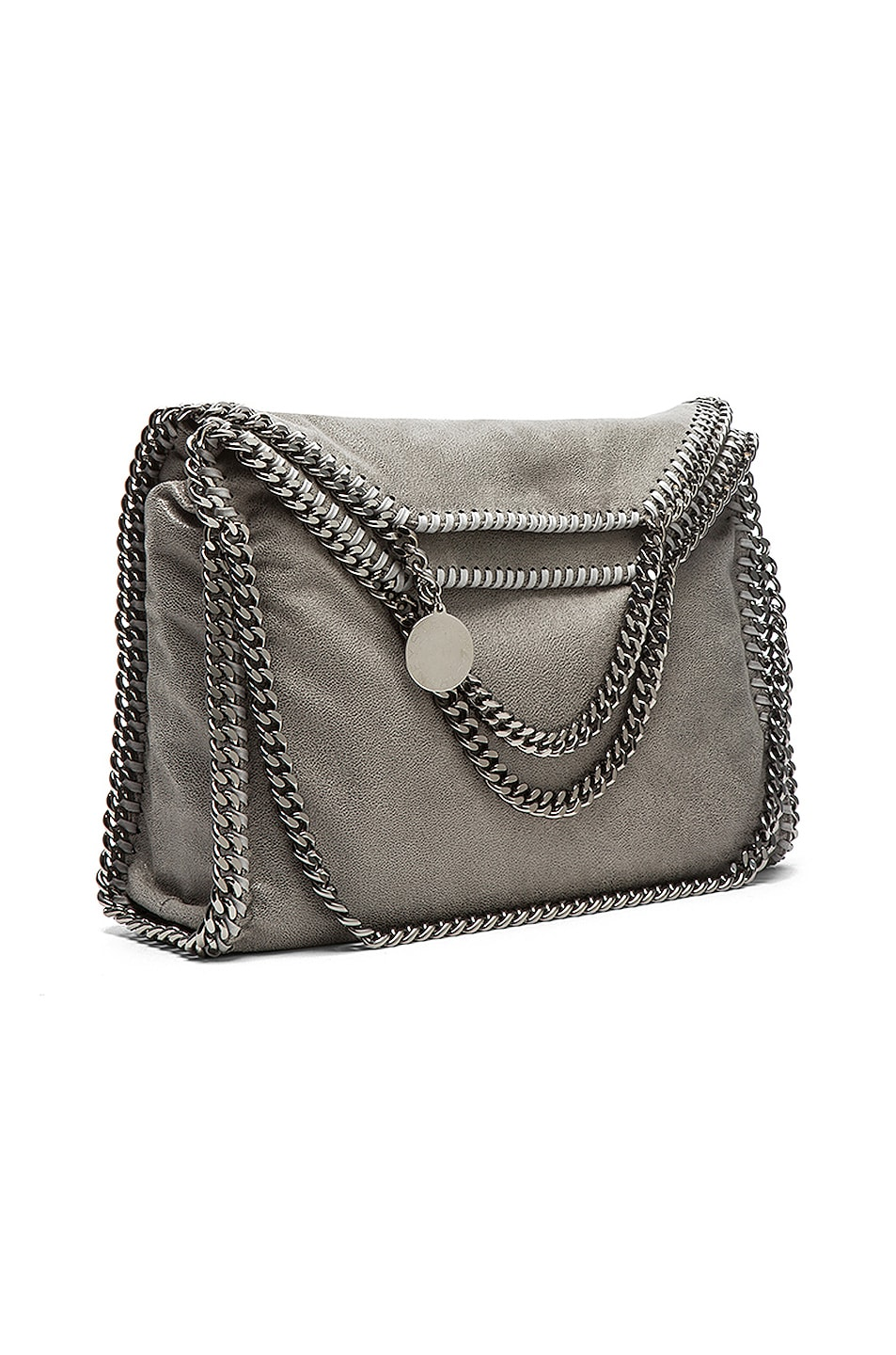 Image 1 of Stella McCartneySmall Falabella Fold Over Tote in Light Grey