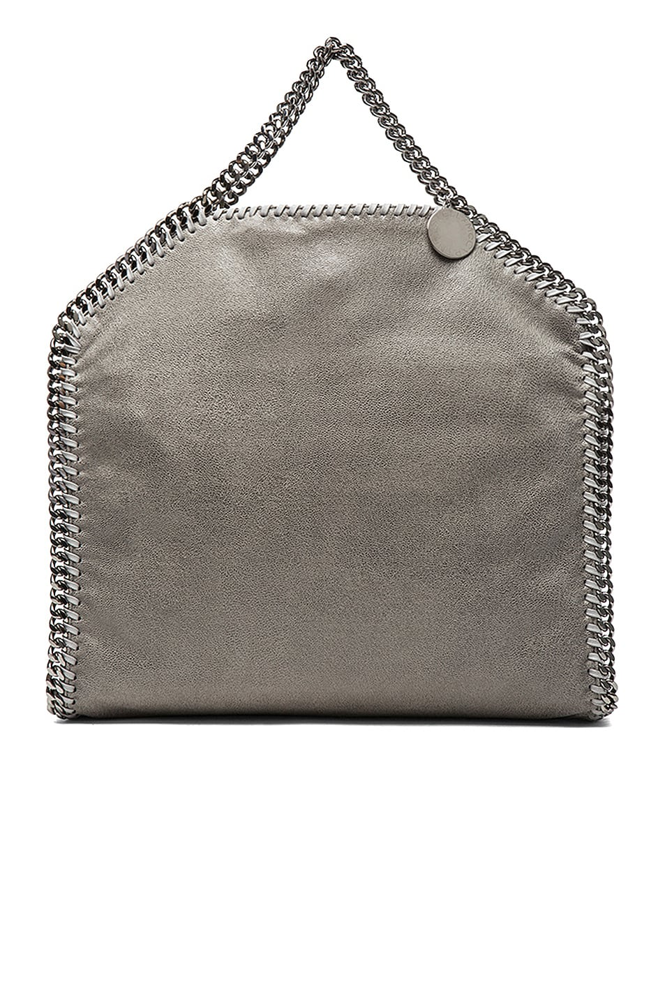 Image 4 of Stella McCartney Small Falabella Fold Over Tote in Light Grey