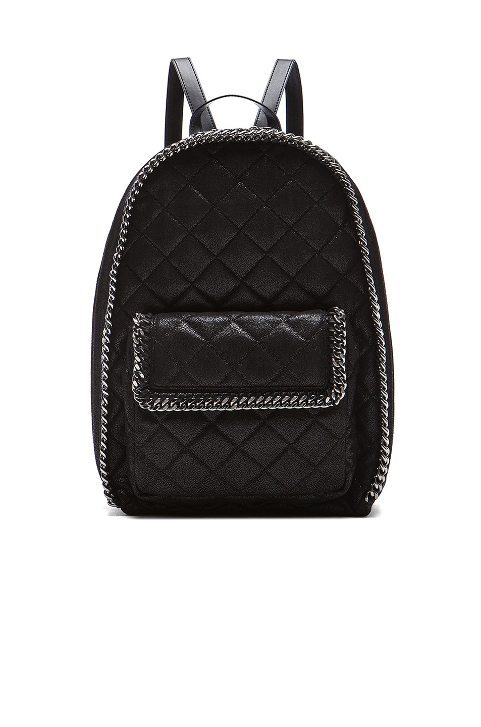 Image 1 of Stella McCartneyFalabella Quilted Backpack in Black