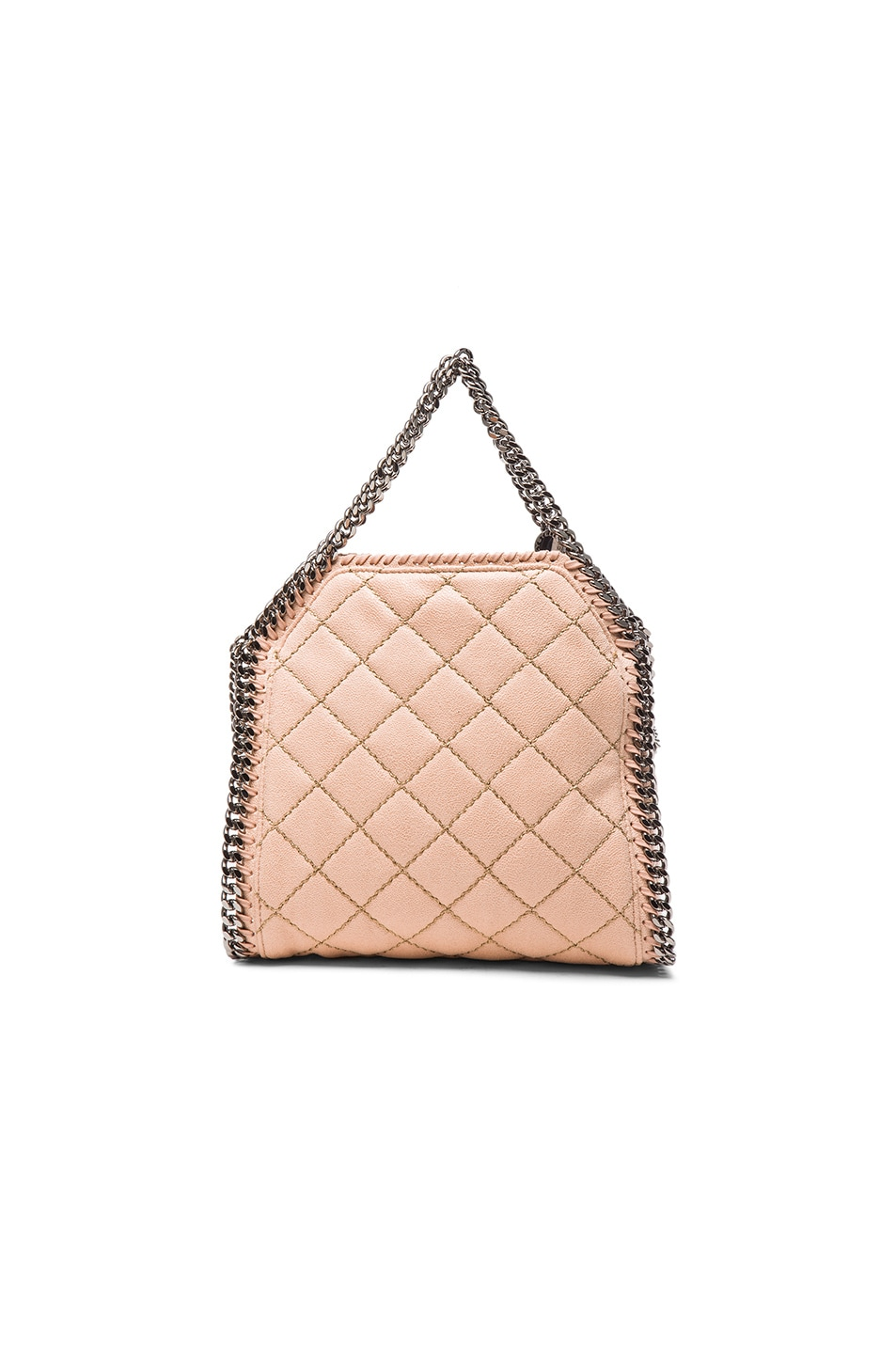 9bd01ca02b Image 2 of Stella McCartney Falabella Quilted Shaggy Deer Tiny Tote in  Powder