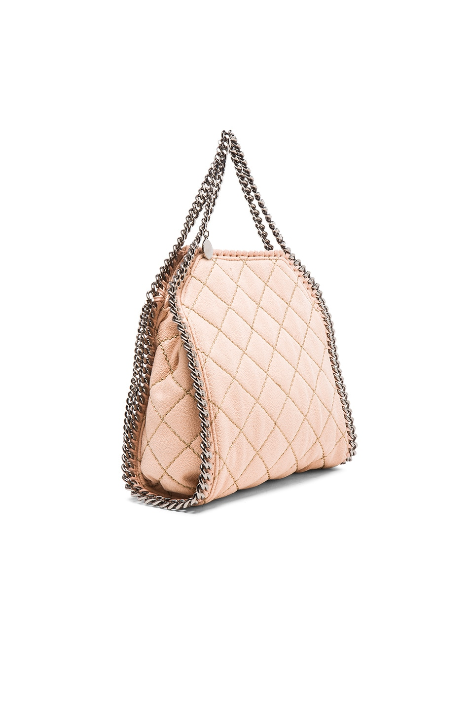 dab8404138 Image 3 of Stella McCartney Falabella Quilted Shaggy Deer Tiny Tote in  Powder