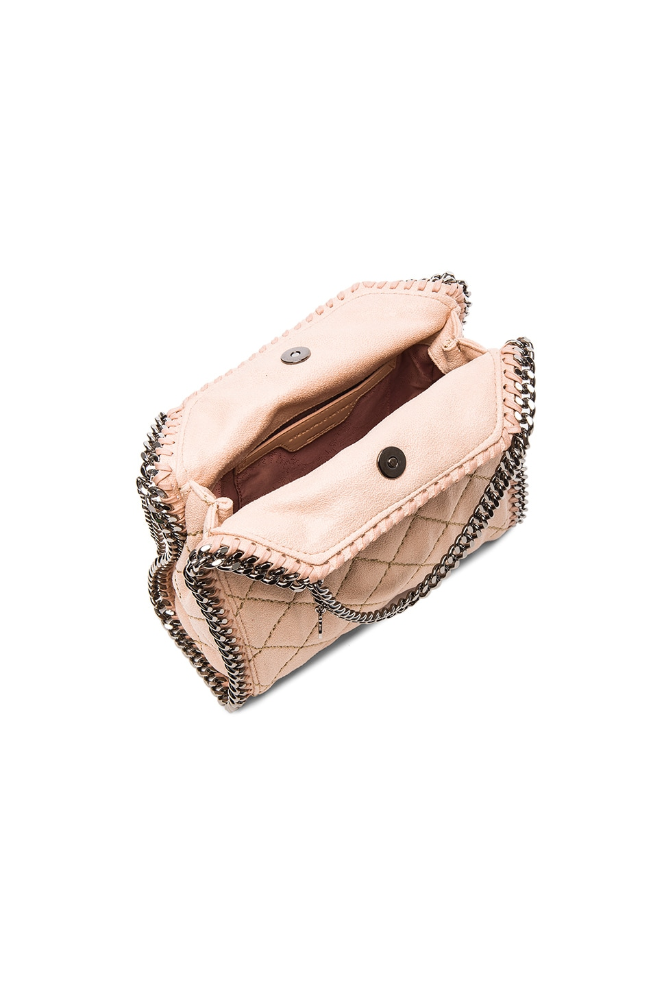 d13babcb7b Image 4 of Stella McCartney Falabella Quilted Shaggy Deer Tiny Tote in  Powder