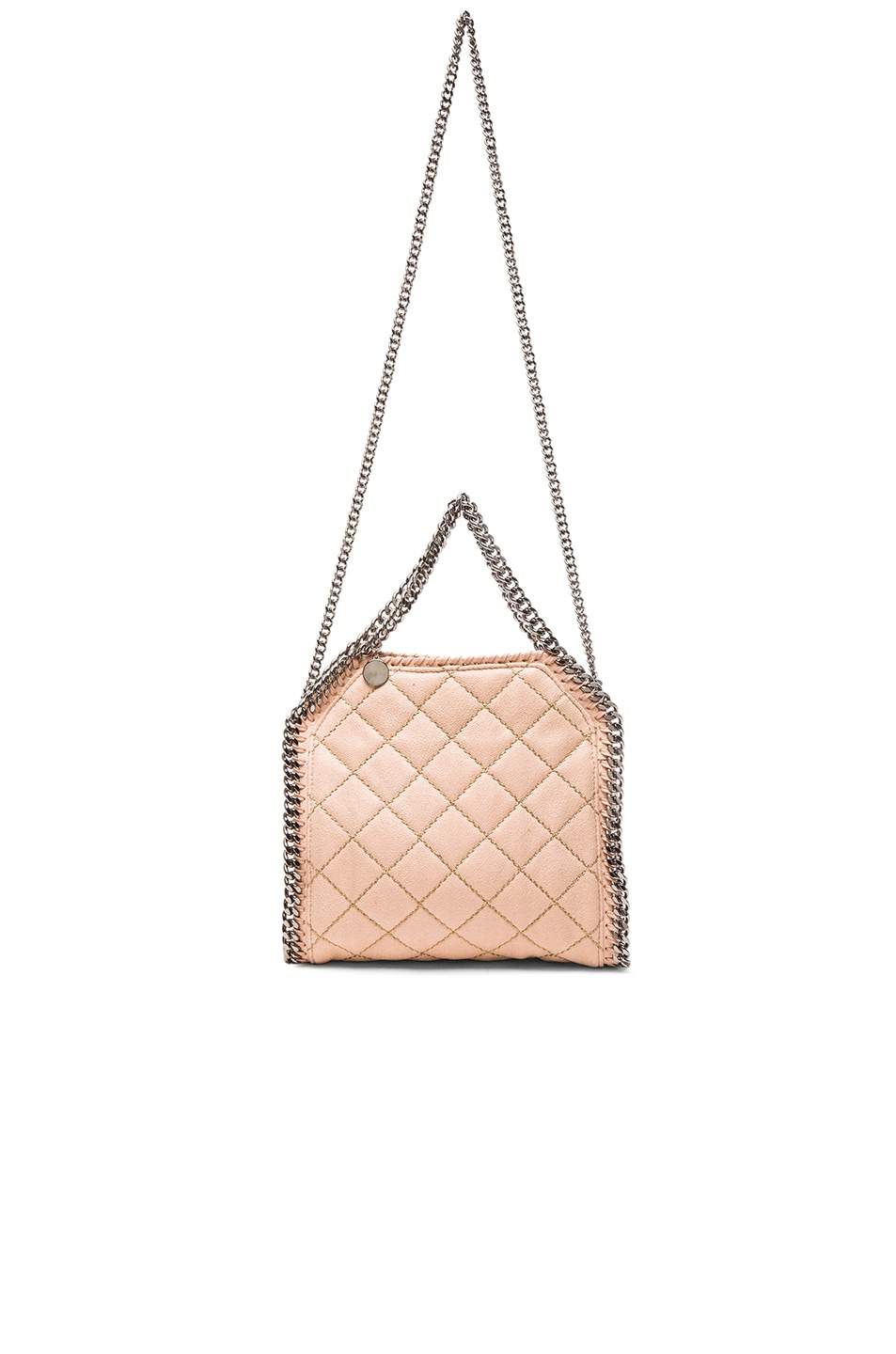 e4238d9abb Image 5 of Stella McCartney Falabella Quilted Shaggy Deer Tiny Tote in  Powder