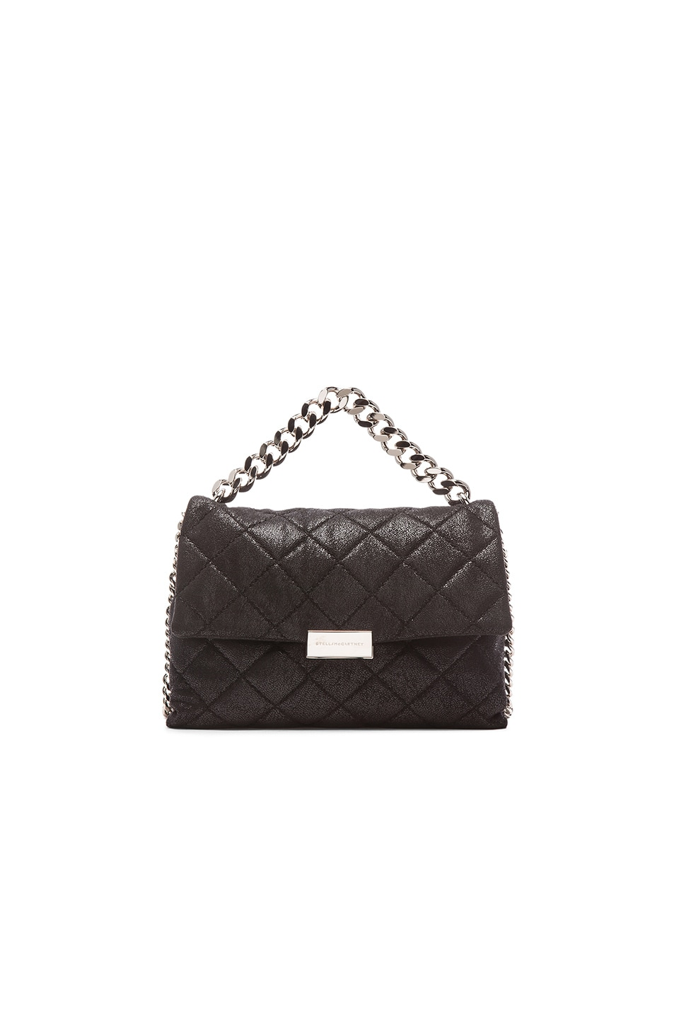 Image 1 of Stella McCartneyQuilted Chain Shoulder Bag in Black