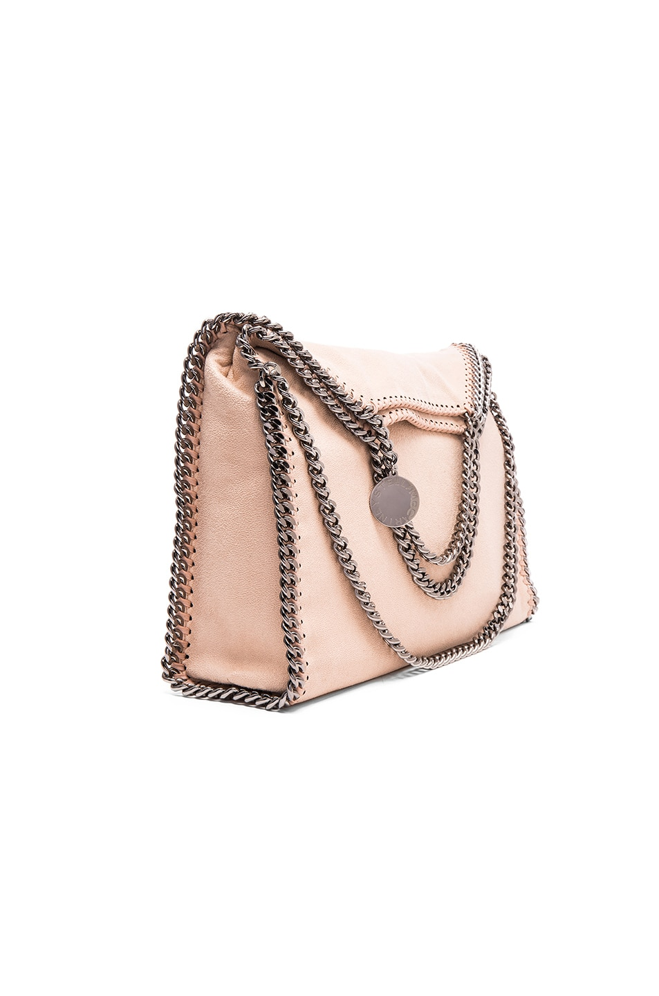 Image 1 of Stella McCartney Falabella Shaggy Deer Fold Over Tote in Powder