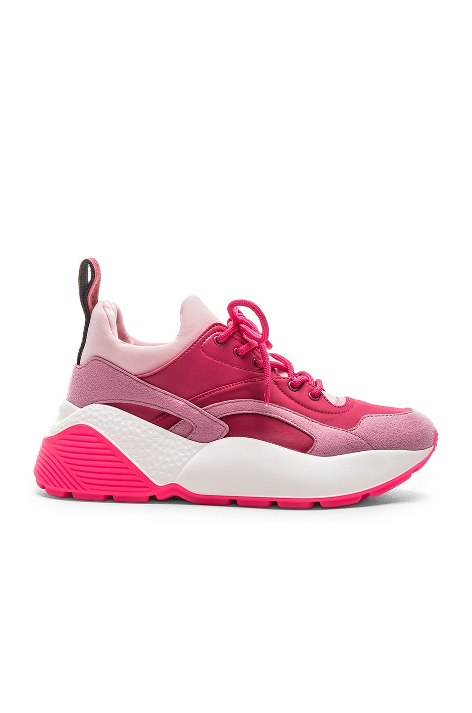 Image 1 of Stella McCartney Eclypse Lace Sneakers in Rose & Fuchsia
