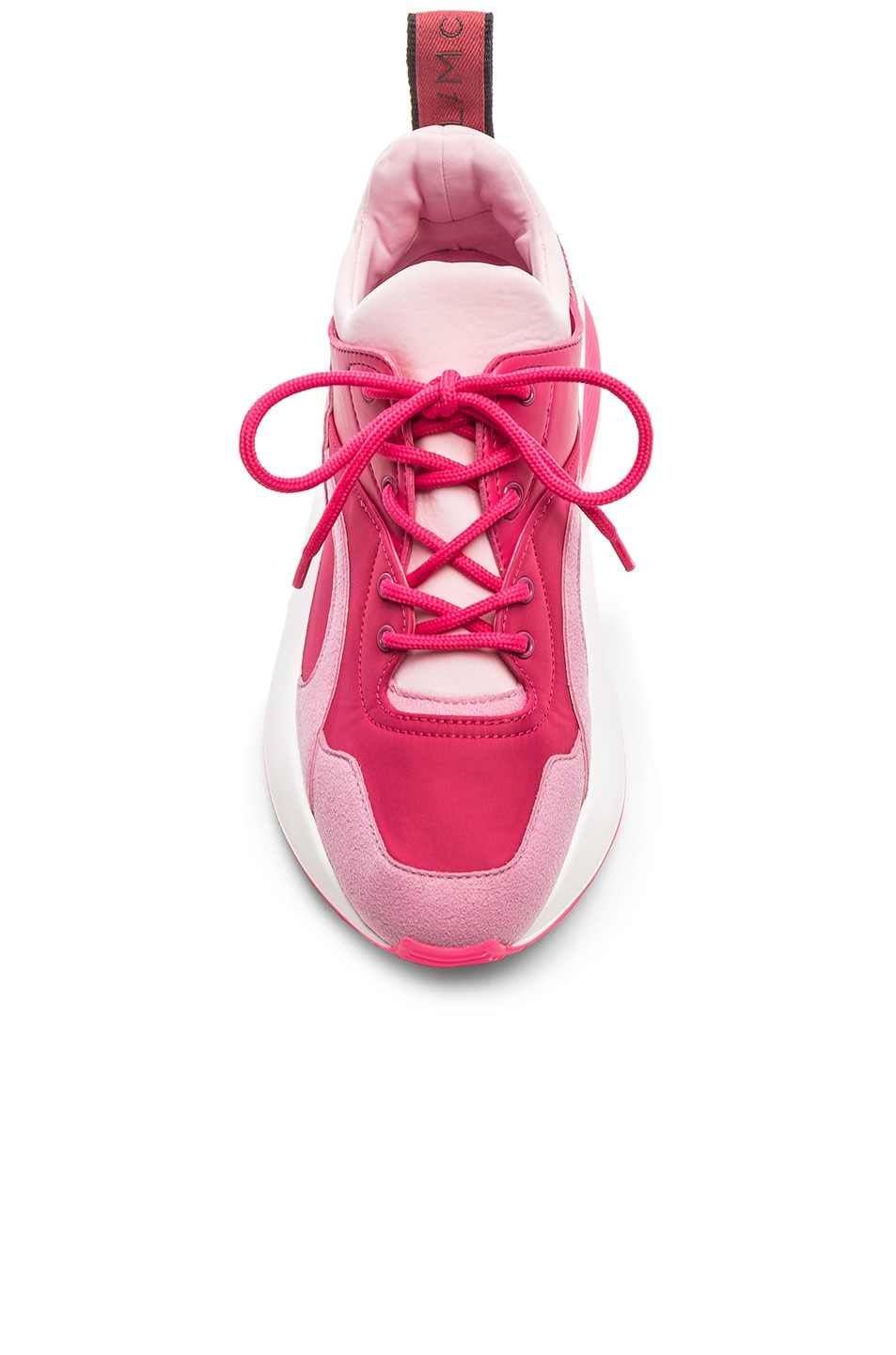 Image 4 of Stella McCartney Eclypse Lace Sneakers in Rose & Fuchsia