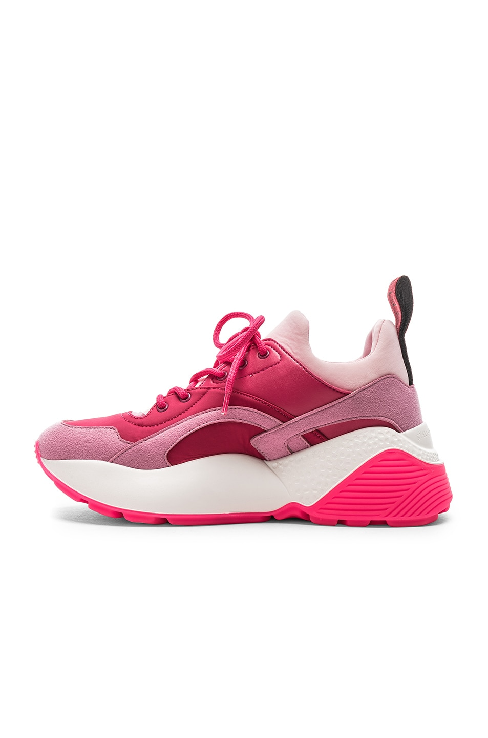 Image 5 of Stella McCartney Eclypse Lace Sneakers in Rose & Fuchsia