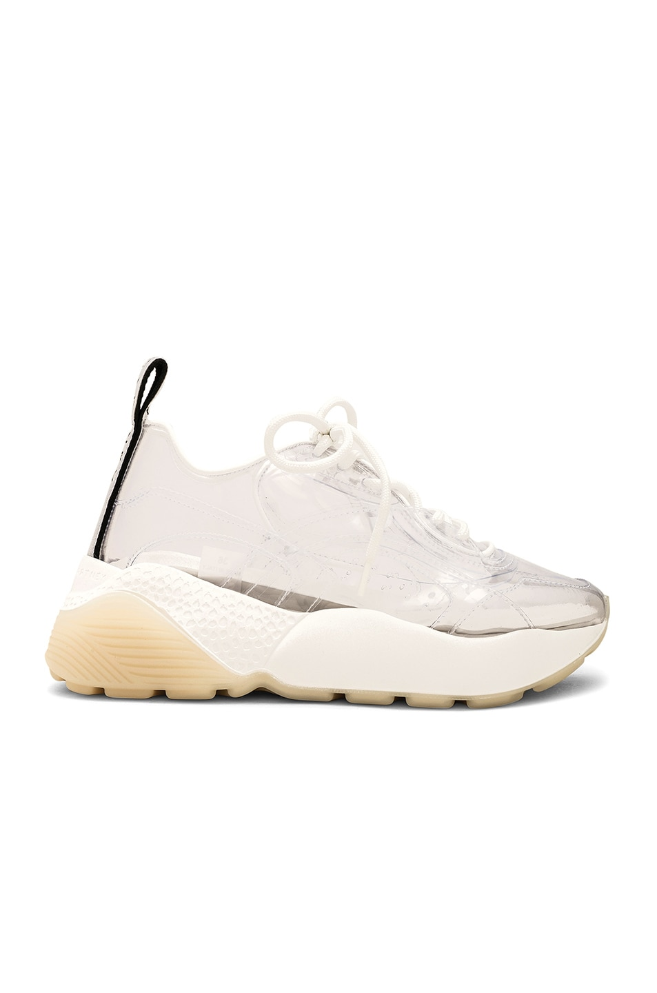 Image 1 of Stella McCartney Eclypse Lace Sneakers in Transparent & White