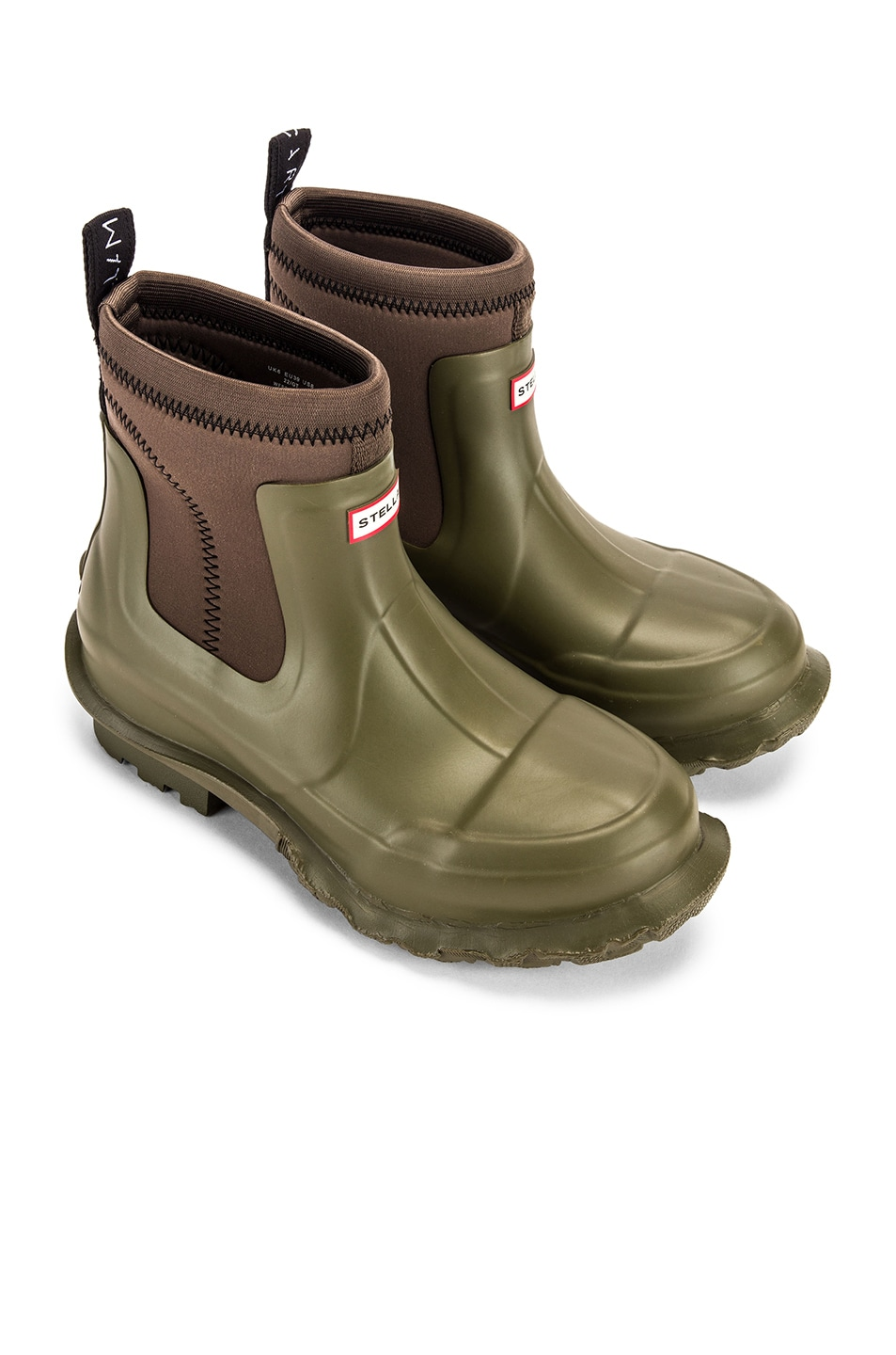 Image 1 of Stella McCartney Hunter Boots in Olive Green
