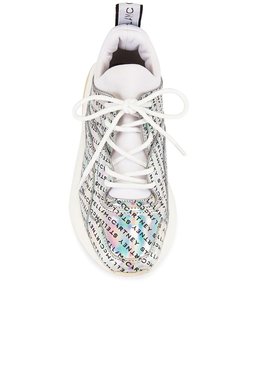 Image 4 of Stella McCartney Eclypse Laced Sneaker in Prisma & White