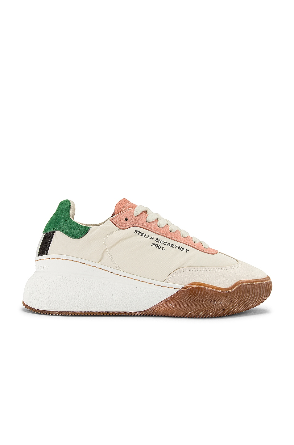 Image 1 of Stella McCartney Fabric Sneakers in White & Cream