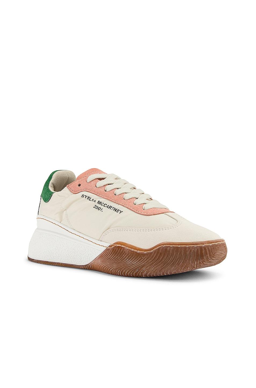 Image 2 of Stella McCartney Fabric Sneakers in White & Cream