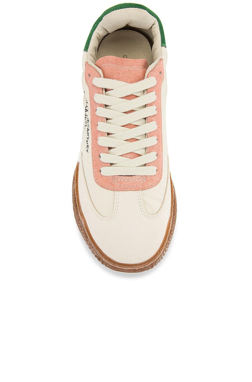 Image 4 of Stella McCartney Fabric Sneakers in White & Cream