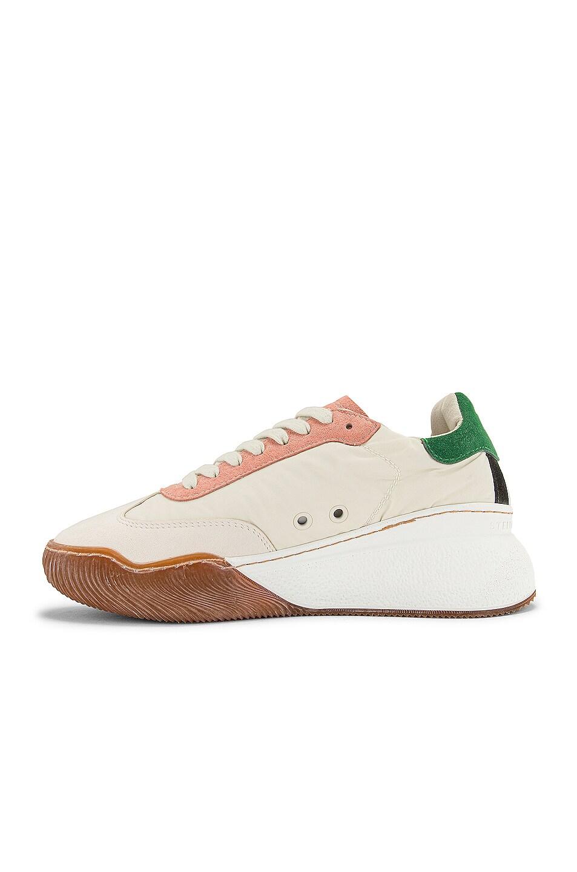 Image 5 of Stella McCartney Fabric Sneakers in White & Cream