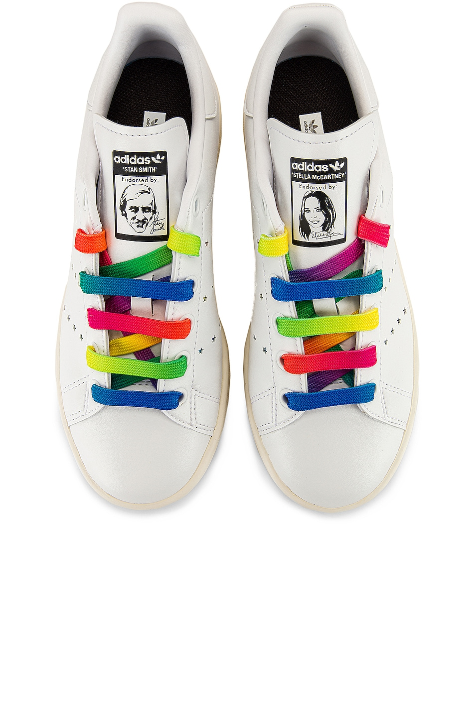 Image 1 of Stella McCartney Stan Smith Sneakers in White & Multicolor