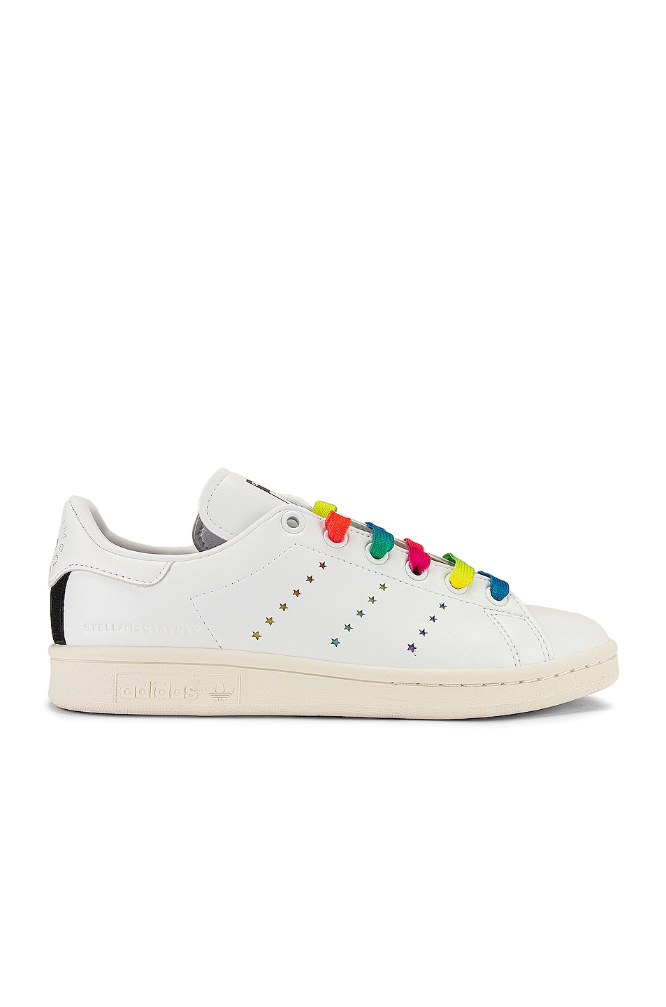 Image 2 of Stella McCartney Stan Smith Sneakers in White & Multicolor