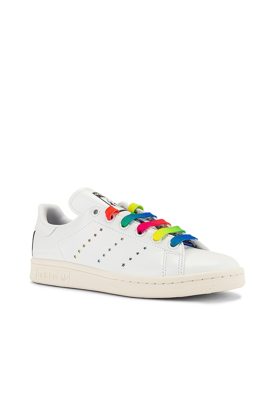 Image 3 of Stella McCartney Stan Smith Sneakers in White & Multicolor