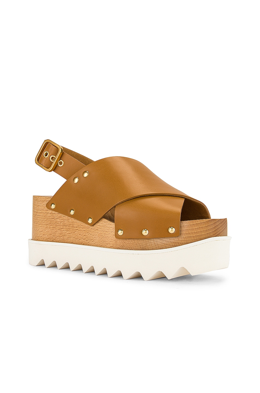 Image 2 of Stella McCartney Percy Platform Sandals in Light Tan