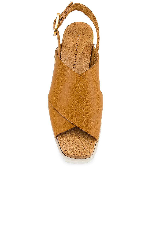 Image 4 of Stella McCartney Percy Platform Sandals in Light Tan