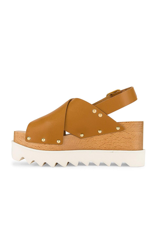 Image 5 of Stella McCartney Percy Platform Sandals in Light Tan