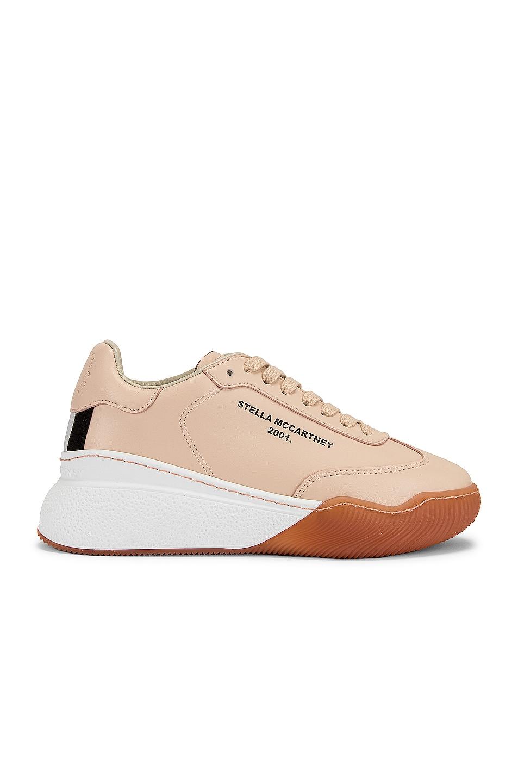 Image 1 of Stella McCartney Runner Loop Sneakers in Beige & White