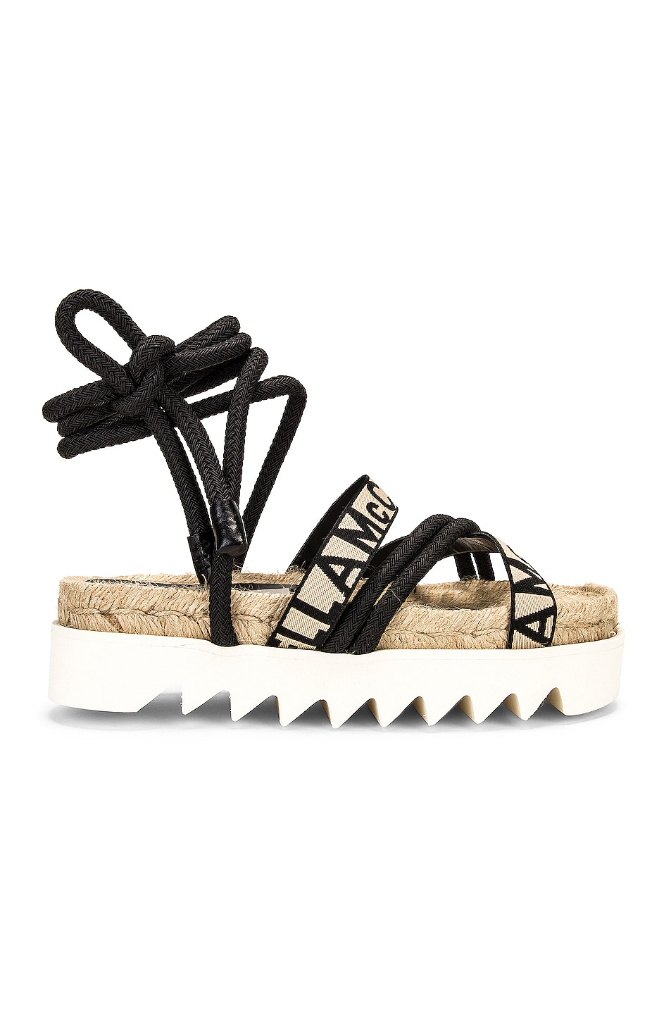 Image 1 of Stella McCartney Gaia Sandals in Black & White